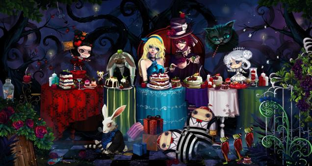 Alice in a Christmas tale